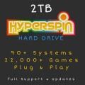2TB Hyperspin External Hard Drive Retro Arcade Gaming