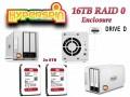 16TB Preconfigured Hyperspin Hard Drive External RAID 0 Enclosure TerraMaster D2-310 Western Digital Drive